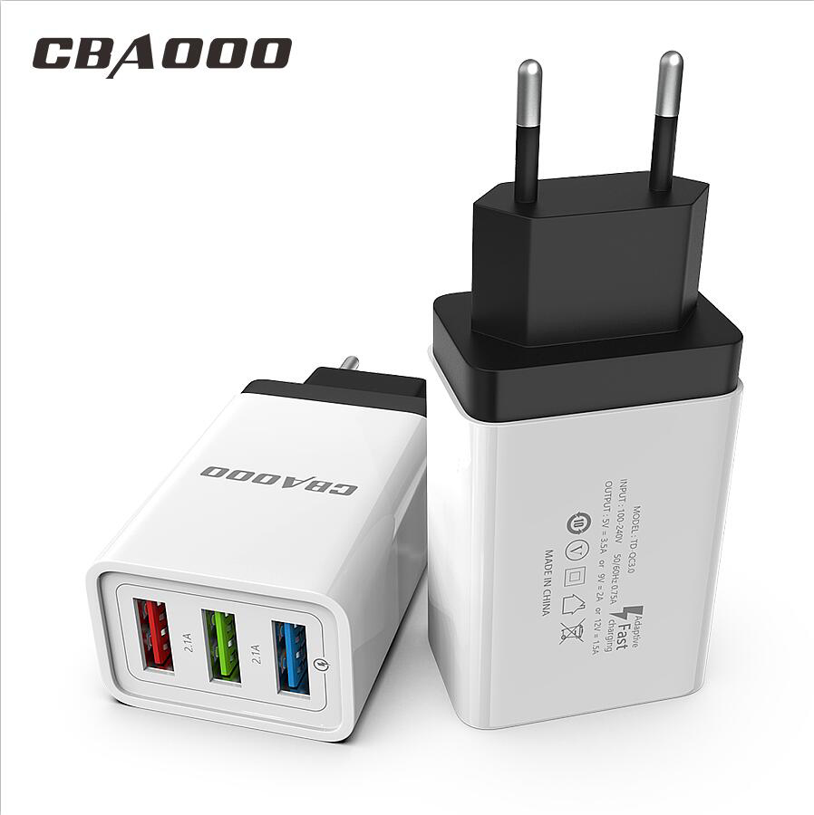 CBAOOO Mobile phone Charger Quick Charger Universal EU Plug USB Charger Travel Wall Charger for iPhone Samsung Xiaomi