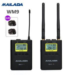 Image 5 - Mailada professionnel UHF système de Microphone sans fil Mini revers casque micro récepteur émetteur pour enseigner la Lecture de la parole
