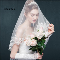 Cathedral Bridal Veil Wedding Accessories White Lace Edge wedding veil Sexy wedding veil TS299