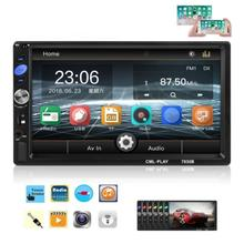 Reproductor Mp5 para coche 7in, Radio Estéreo doble 2Din HD, Bluetooth, interconexión de teléfono, reproductor MP5 para Android, accesorios automovil