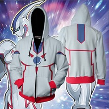 цена на Fudo yusei yu-gi-oh: official card game Zip hooded sweatshirts anime jackets man woman superior 3D print coat cosplay costume