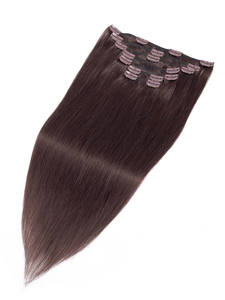 Human-Hair-Extensions Hair-Machine Clip-In Straight Plus Fashion for Women Brazilian