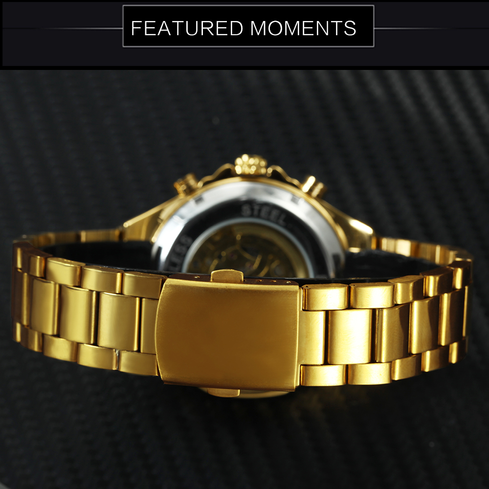 Hc2f8d1ece7f941fe85acc54aa9159b45V WINNER Official Vintage Fashion Men Mechanical Watches Metal Strap Top Brand Luxury Best Selling Vintage Retro Wristwatches +BOX