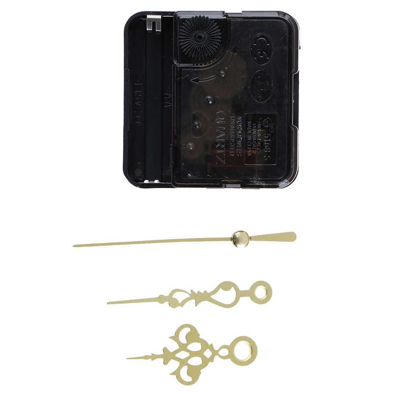 Wiszące DIY zegarek kwarcowy cichy, ścienny zegara mechanizm kwarcowy naprawa ruch mechanizm zegara części z igłami 1 zestaw nowy