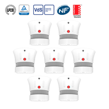 CPVan 7pcs/Lot alarm fire Smoke Detector CE EN14604 Listed  5 yr smoke system for home security free shipping