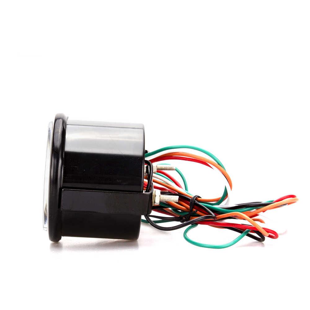 12 فولت 52 مللي متر الرقمية الهواء الوقود نسبة مقياس السيارات الرقمية مصباح ليد العرض المزدوج السيارات مقاييس EVO الأزرق الأحمر الخلفية الغاز متر سيارة