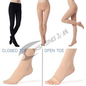 Image 4 - Yisheng medyczne rajstopy uciskowe damskie szczupłe pończochy 20 30 mmHg rajstopy kompresyjne