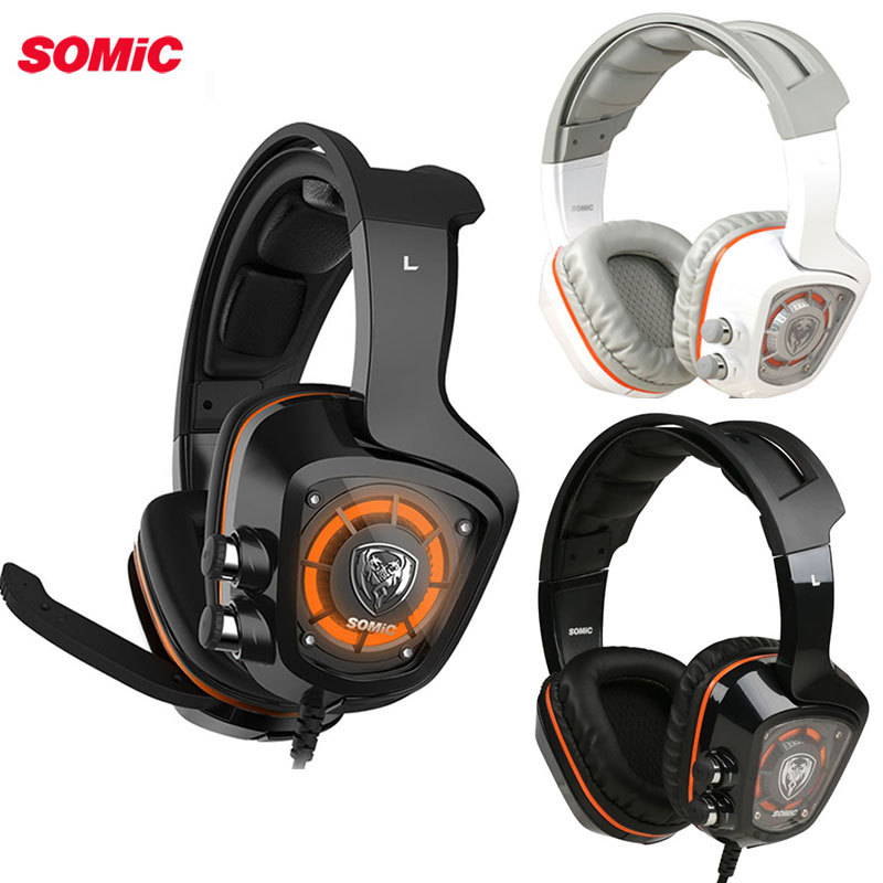 SOMiC G910 <font><b>Gaming</b></font> Headset 7,1 Surround Sound USB LED licht Smart Vibration PC Kopfhörer mit Mic für PS4 für PC gamer image