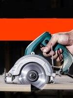 Carpintaria viu a telha de corte multi-função do agregado familiar pequena máquina de corte de motosserra de pedra portátil 1400 w