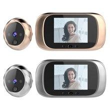 2.8 인치 LCD 컬러 스크린 디지털 초인종 스마트 전자 틈 구멍 야간 투시경 비디오 카메라 뷰어 야외 도어 벨