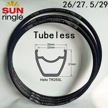 Rims Sun-Rim Tubeless Sunringle Helix Aluminium 26inch 24-Holes 28 TR25SL 32 29 Hoops
