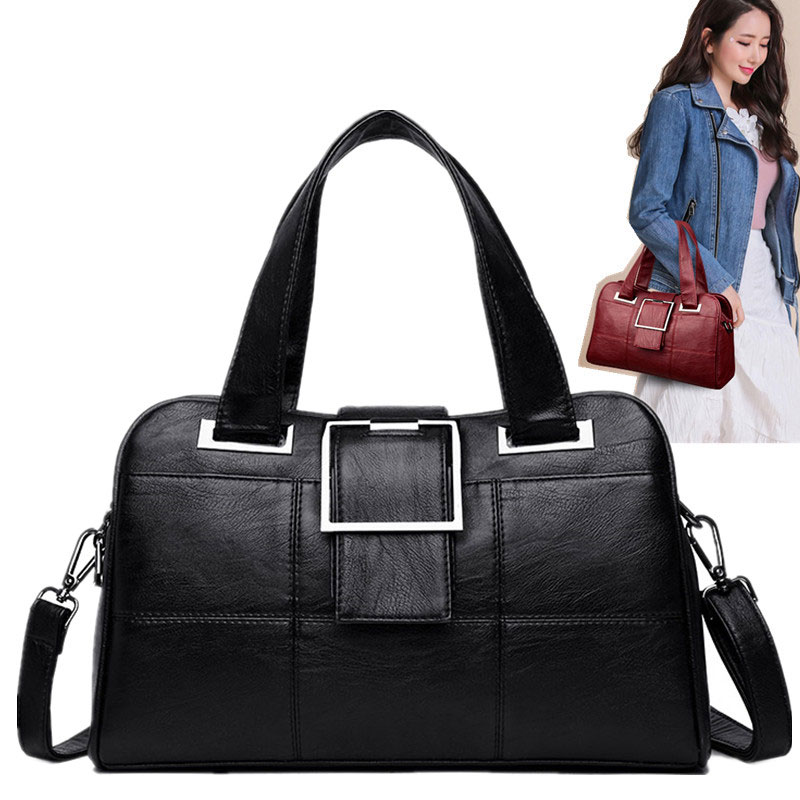 Handbags Women 2019 Fashion Shoulder Bags Genuine Leather Shopping Bag Black Bag For Girl