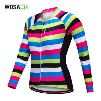 WOSAWE Women's Cycling Motorcycle Jersey Long Sleeve Bicycle Clothing Road Biker Top Shirts MTB Downhill Sports Jersey Quick Dry 2020 quick dry custom cycling jersey fishing jersey quick dry fishing long sleeve motocross cycling clothing downhill jersey