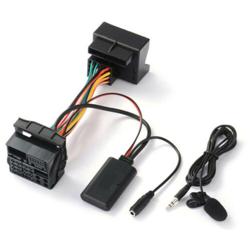 Áudio-adaptador de cabo aux bluetooth microfone externo
