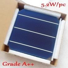 5,2 Вт 156 мм монокристаллическая моно солнечная батарея 6x6'+ достаточно PV Ленты(10 м таб провода+ 3 М шины провода) для 52 Вт солнечной панели