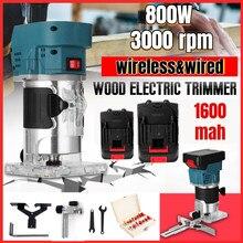 2 pçs bateria de lítio 800w carpintaria elétrica trimmer fresadora de madeira gravura entalho máquina corte escultura máquina roteador