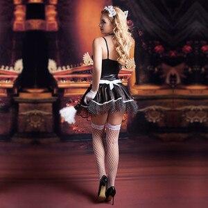Image 2 - Dorosłe kobiety francuska pokojówka przebranie na karnawał seksowne kostiumy na Halloween nowe gorące kobiety obsługa pokoju do odgrywania ról egzotyczna sukienka na imprezę 9727