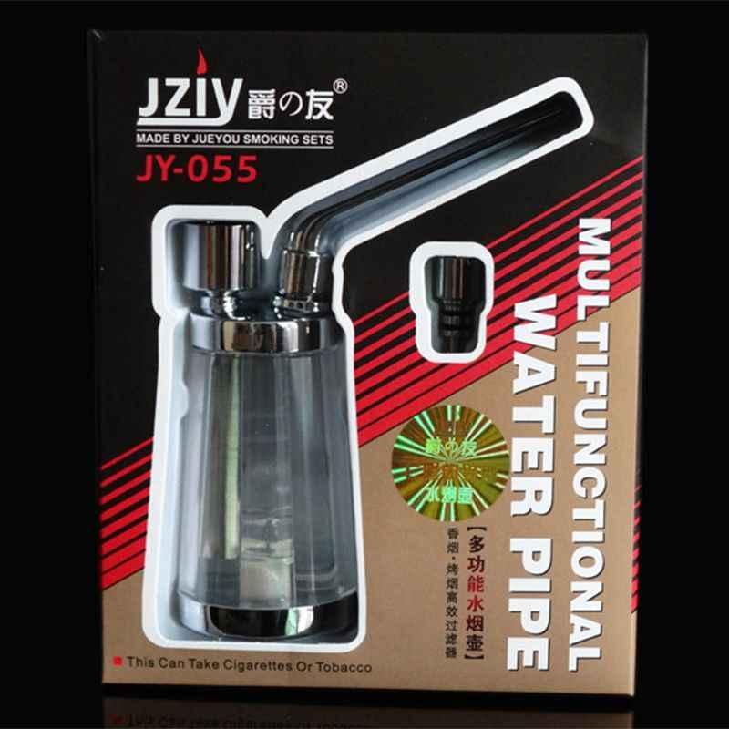 Popularna fajka wodna z butelki przenośna Mini szisza Shisha fajki do palenia tytoniu akcesoria prezent zdrowia rura metalowa filtr Py