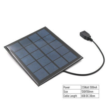 Φορτιστής Ηλιακού Πάνελ 5v 2w με θύρα usb Πολυκρυσταλλική Ηλιακή Κυψέλη diy Μπαταρία ηλιακής φόρτισης 5v καλώδιο usb 30cm