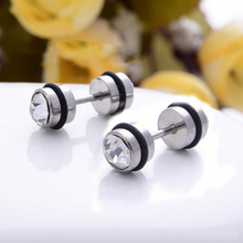 2Pcs Silver Surgical Steel Cheater Faux Fake Ear Plugs Flesh Tunnel Gauges Tapers Stretcher Earring Piercing Jewelry Free Shipping 2pc white black stainless steel cheater faux fake ear plugs flesh tunnel gauges tapers stretcher earring