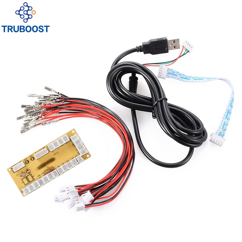 New Zero Delay USB Encoder to PC Joystick and Button For MAME & Fight Stick Controls DIY Arcade Game Kit Parts(China)