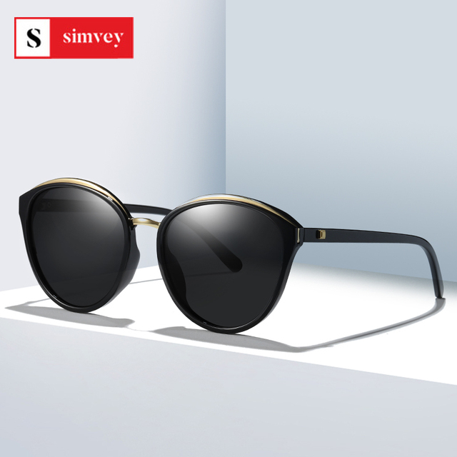 2020 Fashion Retro Cat Eye Sunglasses for Women Luxury Brand Designer Vintage Polarized Oversized Sunglasses UV400 1