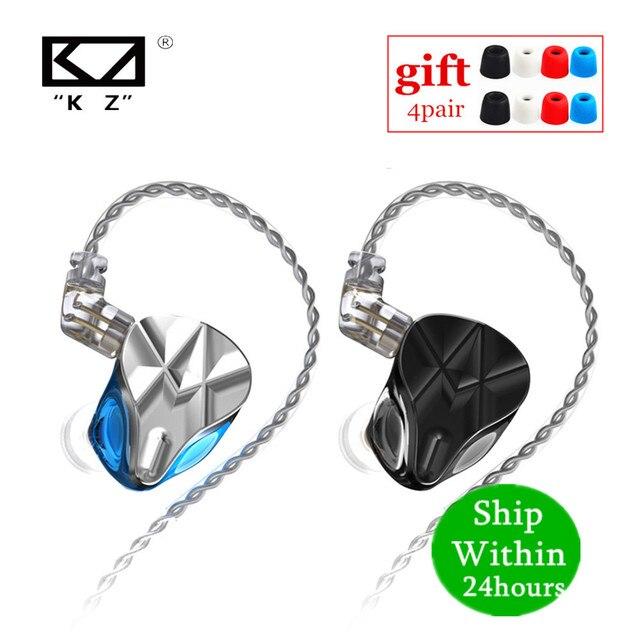 سماعات رأس KZ ASF 5BA 10 ذات محرك متوازن HIFI داخل الأذن مع شاشة DJ مع خاصية إلغاء الضوضاء KZ ZSX ZAX ASX SA08 AS16