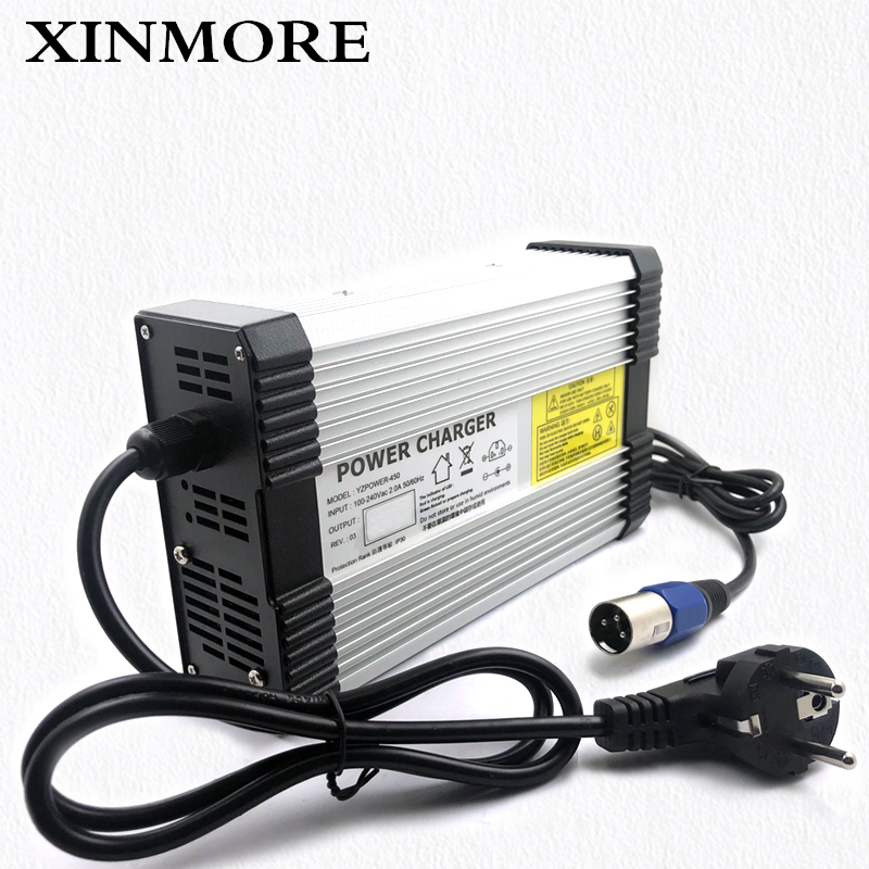 XINMORE 100V-240V E-bike Scooter 116V 3.5A 3A UK Lithium Battery Charger DC-AC 96V Lithium Battery Power Supply Adapter