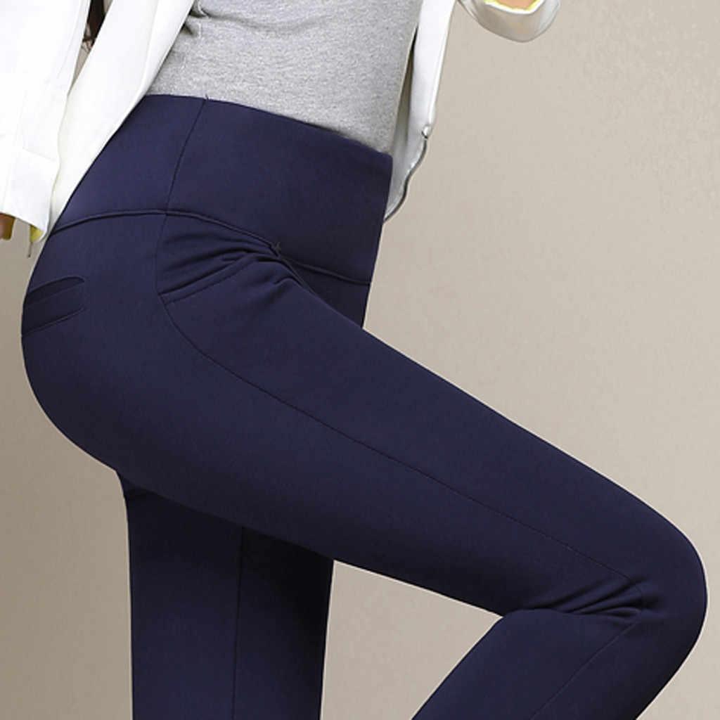 Vrouwen Winter Leggings Plus Size Hoge Taille Stretch Dikke Legging Effen Skinny Warme Fluwelen Potlood Broek Dame Broek 2019 Nieuwe