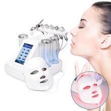 Máquina 7 en 1 para el cuidado de la piel, exfoliante de dermoabrasión por Hidra, limpieza de la piel por vacío, BIO luz RF, exfoliación por chorro de oxígeno y agua
