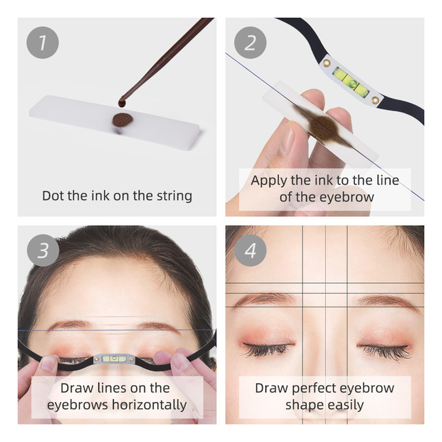 Microblading Eyebrow Mapping Tool - Bow with String Microblading Measuring Tool, Permanent Make Up Tattoo Eyebrow Mapping Thread 4