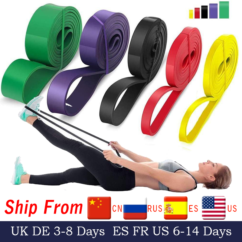 208cm Stretch Resistance Band Exercise Expander Elastic Band Pull Up Assist Bands for Fitness Training Pilates Home Workout(China)