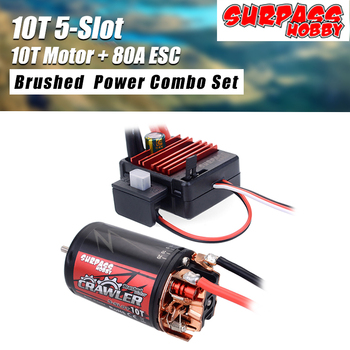 550 10T 12T Brushed Motor Waterproof 5-Slot w/ BCD80A ESC for Tamiya Redcat Kyosho TRAXXAS WLtoys 1/10 RC Crawler Car 550 12t 21t 27t 35t brushed motor for 1 10 rc car hsp hpi wltoys kyosho off road rock crawler climbing rc car rc brushed