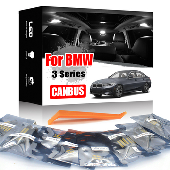 KAMMURI White Canbus For BMW 3 series E30 E36 E46 E90 E91 E92 E93 F30 F31 M3 LED interior Map Dome Trunk light Package Kit image