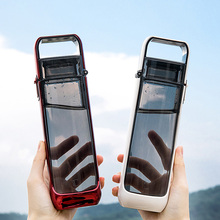 Flat Water Bottles Termos Fashion Simple Running Portable Cr