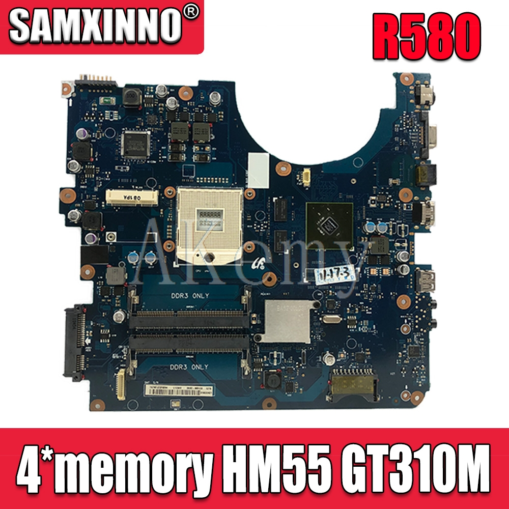 For Samsung NP-R580 R580 Laptop Motherboard HM55 DDR3 GT310M Graphic R580 Mainboard Motherboard BREMEN-M BA92-06132A BA92-06132B