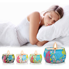 4 Pcs Scented Candles Natural Soy Wax Portable Travel Tin Candle Wedding Party Home Decor Modern New Drop shipping S24