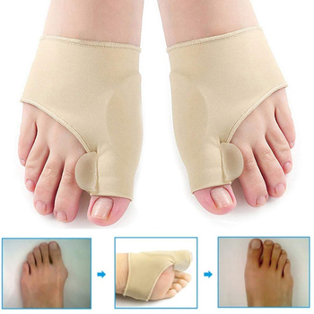1 pcs Toe Separator Hallux Valgus Bunion Corrector Orthotics Feet Bone Thumb Adjuster Correction Pedicure Sock Straightener