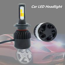 цена на hlxg 2Pcs H4 LED H7 Canbus H11 HB4 H1 H3 HB3 COB turboled Auto Car Headlight 3800LM High Low Beam Bulb Automobile Lamp 6500K 12V