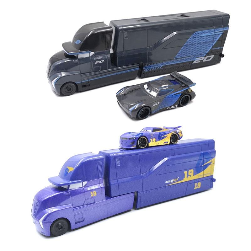 Disney Pixar Cars 3 Toys Lightning McQueen Jackson Storm Mack Uncle Truck 1:55 Diecast Model Car For Children Christmas Gifts