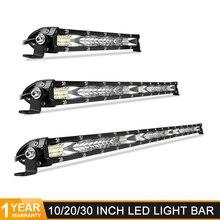 Ultra Slim 10 20 30 led light bar 12V 24V Led Bar Combo Spot Flood Driving work Light for Jeep Trucks Tractor off road 4x4