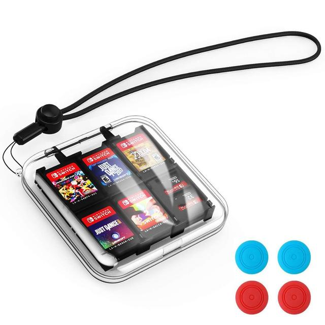 Nintend Switch 12 in 1 Game Memory Card Micro SD Case Holder for Nintendo Switch NS Lite Cartridge Storage Box With Strap