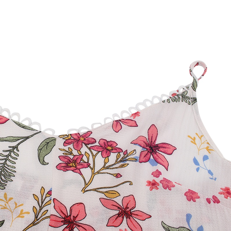 Sling Large Size Dress Female Summer New Hot Fresh Flower Print European And American Style White Treasure Blue Sexy Temperament in Dresses from Women 39 s Clothing