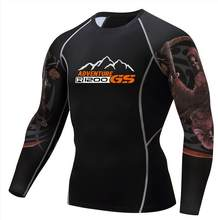 R1200 GS T-S adventure T-shirt Fashion 3D Teen Wolf Long Sleeve Shirt Bodybuilding MMA Fitness printing T-shirt(China)