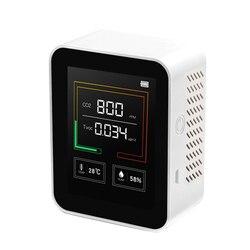 K03 medidor de co2 detector qualidade do ar monitor co2 analisador multifuncional medidor umidade temperatura display lcd com luz fundo