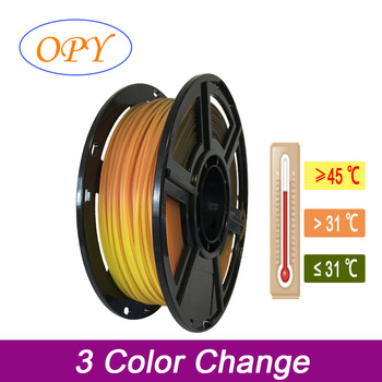 Pla Change Color Gradient Fdm Filament 1.75 1Kg 3D Printer Black To Red To Yellow image