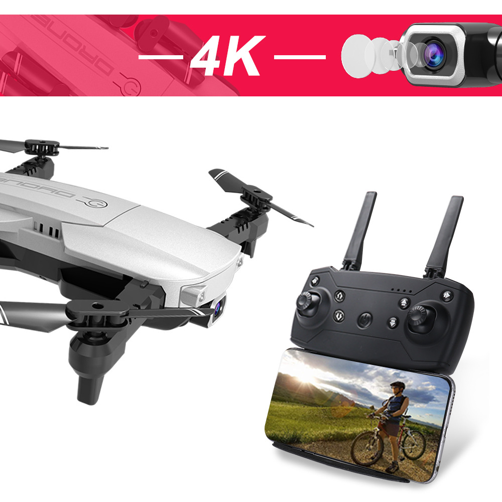H3 Unmanned Aerial Vehicle Aerial Photography 4K Pixel Folding Quadcopter Optical Flow Set High Telecontrolled Toy Aircraft