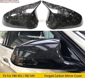Real Crabon Fiber Mirror Cover Exchange original 1 pair for BMW forging M2 M3 M4 F80 F82 F83 F87 2014 - 2019 1