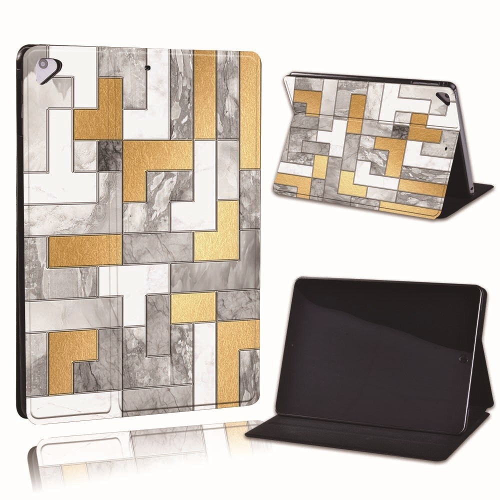 19.game pattern Camel For Apple iPad 8 10 2 2020 8th 8 Generation A2428 A2429 PU Leather Tablet Stand