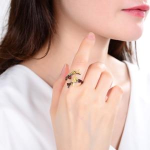 Image 2 - GEMS בלט 925 סטרלינג כסף בעבודת יד מתכוונן להרחיב טבעת 0.43Ct טבעי גרנט חלזונות & ציפור על סניף טבעות עבור נשים